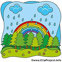 Parc arc-en-ciel été illustration à télécharger gratuite