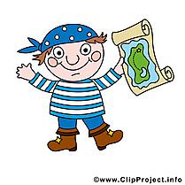 Carte dessins gratuits - Pirate clipart gratuit