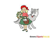 Chaperon rouge clip art gratuit – Conte de fées dessin