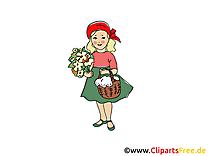 Chaperon rouge images gratuites – Conte de fées clipart