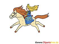 Cheval princesse clipart gratuit – Conte de fées images
