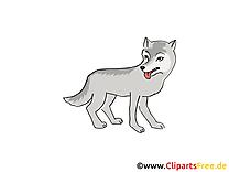 Loup clip art gratuit – Conte de fées dessin