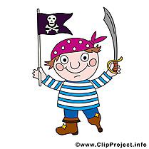 Pavillon pirates et corsaires illustration à télécharger