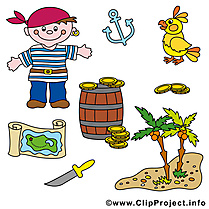 Pirates images - Perroquet dessins gratuits