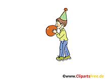 Ballon clipart gratuit - Anniversaire dessins