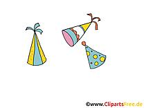 Chapeau de fête dessins - Soirée clipart gratuit