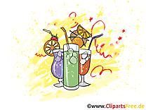 Cocktails dessin gratuit - Soirée clip arts