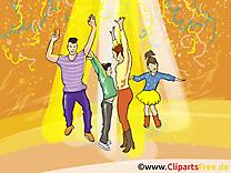 Disco clip art gratuit - Danse dessin