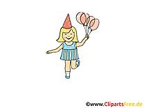 Fille images - Ballons dessins gratuits