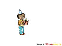Gâteau clip art gratuit - Anniversaire dessin