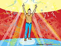 Illustration gratuite danse - Soirée clipart