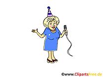 Karaoké image gratuite – Soirée clipart