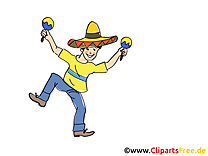 Mexicain clip art gratuit - Fête dessin