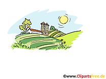 Champs image gratuite – Ferme cliparts