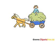 Charrette cheval image gratuite – Ferme illustration