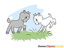 Chevreaux ferme illustration à télécharger gratuite