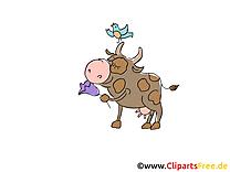 Clipart gratuit vache – Ferme images
