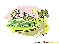 Ferme dessin clip arts gratuits à télécharger