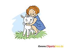 Fille bouc clipart – Ferme dessins gratuits