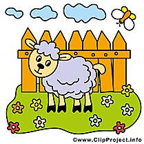 Mouton dessin gratuit – Ferme image