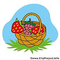 Panier fraises ferme image à télécharger