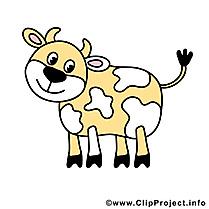 Vache illustration gratuite – Ferme images