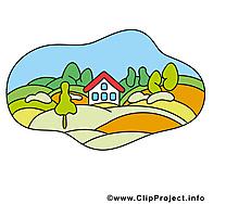 Village clip art gratuit – Ferme images
