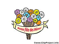 Bouquet dessin gratuit – Fête des Mères image