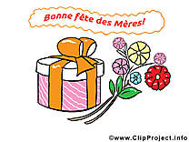Cadeau dessin – Fête des Mères cliparts à télécharger