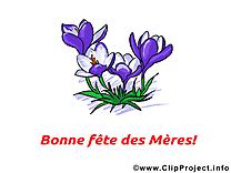 Clip art gratuit fleurs – Fête des Mères dessin
