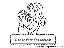Coloriage images gratuites Fête des Mères clipart