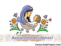 Enfant dessin gratuit – Fête des Mères image