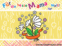Fête des Mères illustration allemand gratuite  clipart
