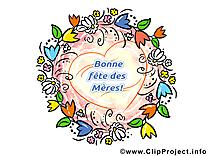 Fleurs clip art gratuit – Fête des Mères images