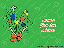 Fleurs dessin à télécharger – Fête des Mères images