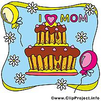 Gâteau image gratuite – Fête des Mères illustration