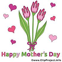 Tulipes dessin – Fête des Mères cliparts à télécharger