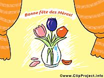 Vase fleurs clip arts gratuits – Fête des Mères illustrations