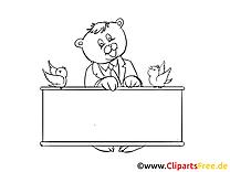 Chat image à colorier – Finances clipart