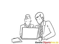 Collaboration finances image à colorier gratuite