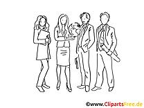 Collègues image à colorier – Finances illustration