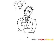 Coloriage clip art homme – Finances dessin