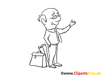 Coloriage image homme d'affaire – Finances cliparts