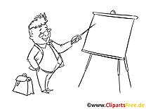 Coloriage présentateur finances illustration gratuite