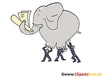 Dessin gratuit éléphant – Finances image