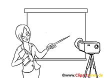 Femme dessin à colorier – Finances image