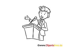 Homme d'affaire image à colorier – Finances clipart