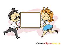Homme et femme finances illustration à télécharger
