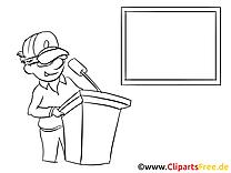 Orateur clip arts à colorier – Finances illustrations