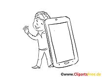 Portable clip art à colorier – Finances images